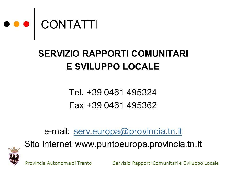 SERVIZIO RAPPORTI COMUNITARI
