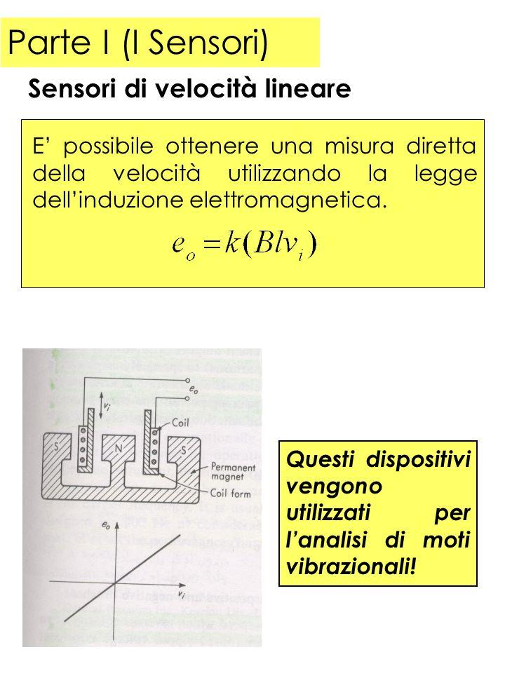 Parte I (I Sensori) Sensori di velocità lineare