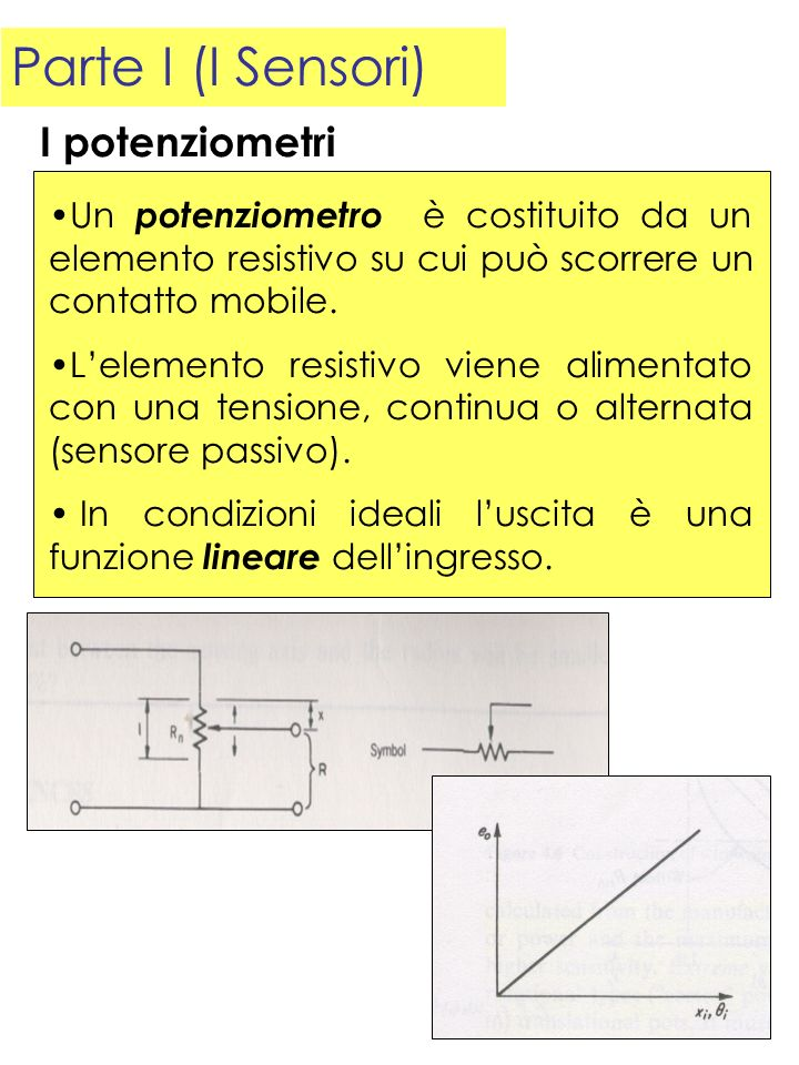 Parte I (I Sensori) I potenziometri