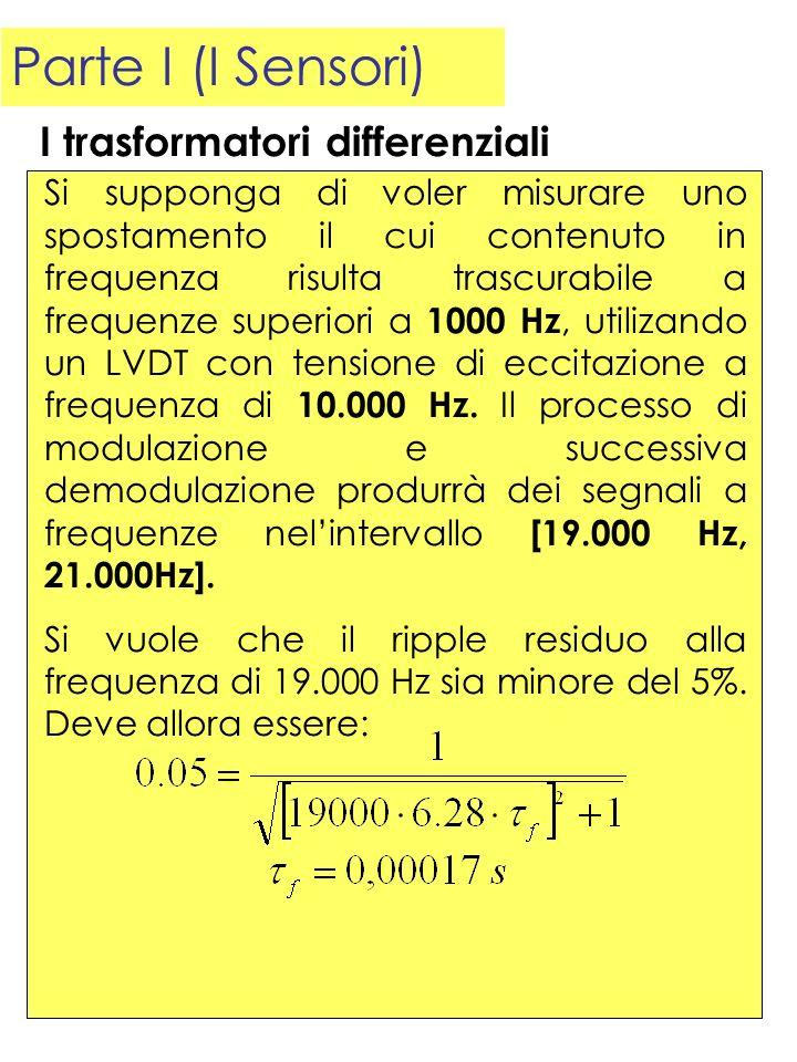 Parte I (I Sensori) I trasformatori differenziali