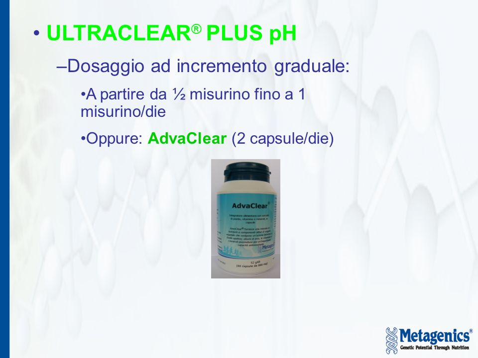 ULTRACLEAR® PLUS pH Dosaggio ad incremento graduale: