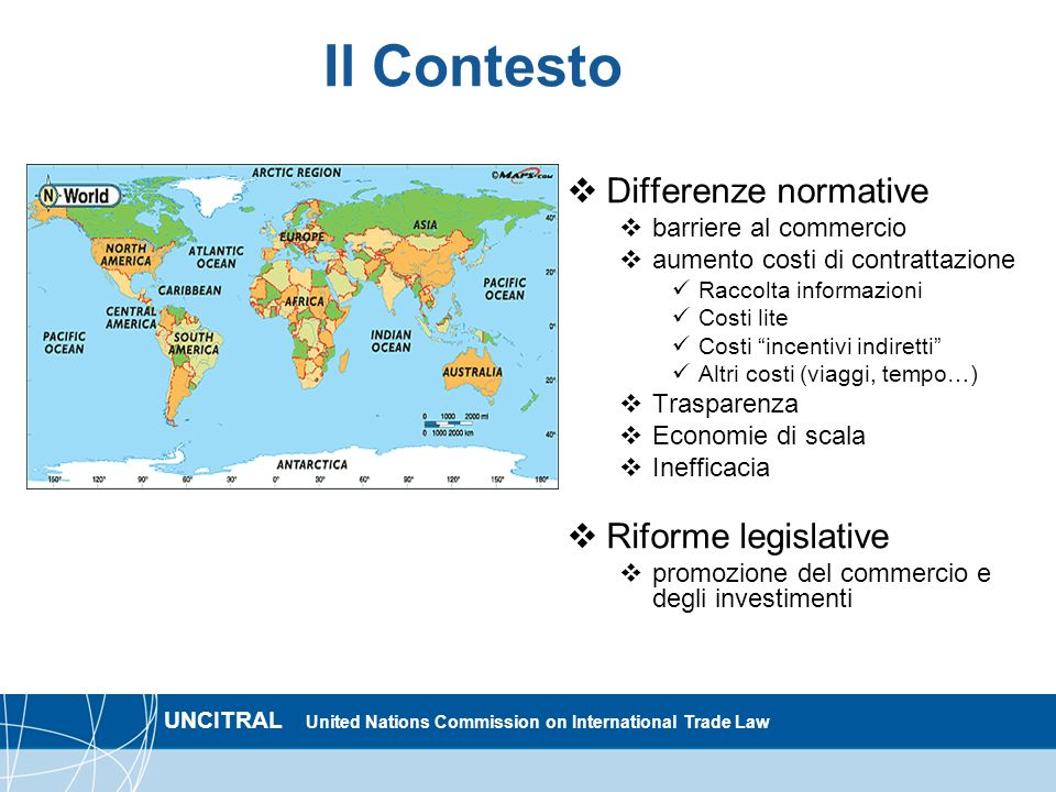 Il Contesto Differenze normative Riforme legislative