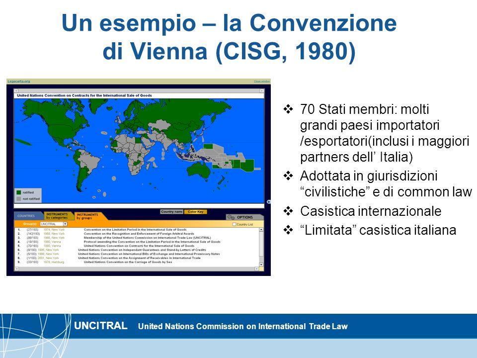 Un esempio – la Convenzione di Vienna (CISG, 1980)