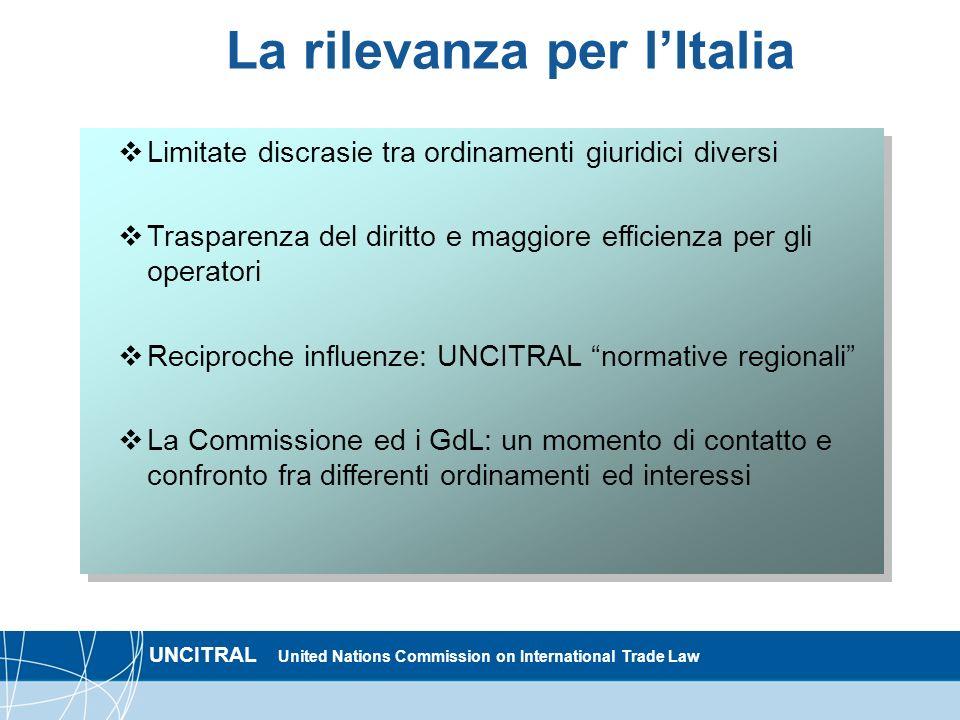 La rilevanza per l'Italia