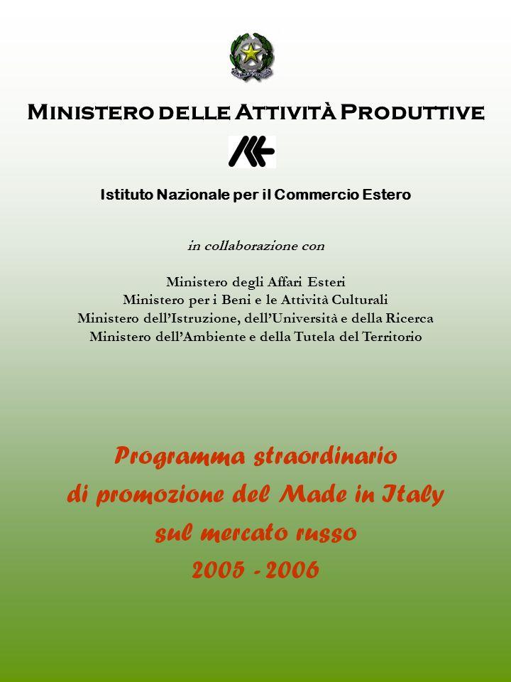 Programma straordinario di promozione del Made in Italy