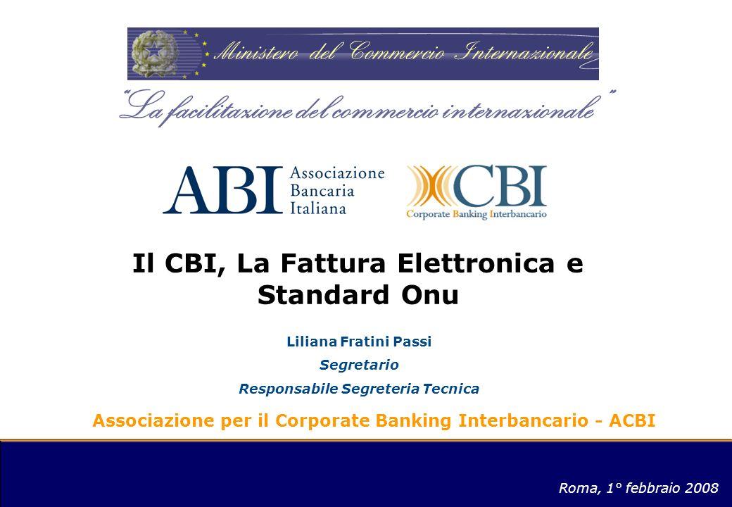 Il CBI, La Fattura Elettronica e Standard Onu