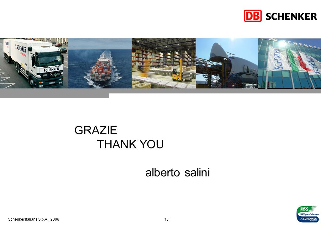GRAZIE THANK YOU alberto salini