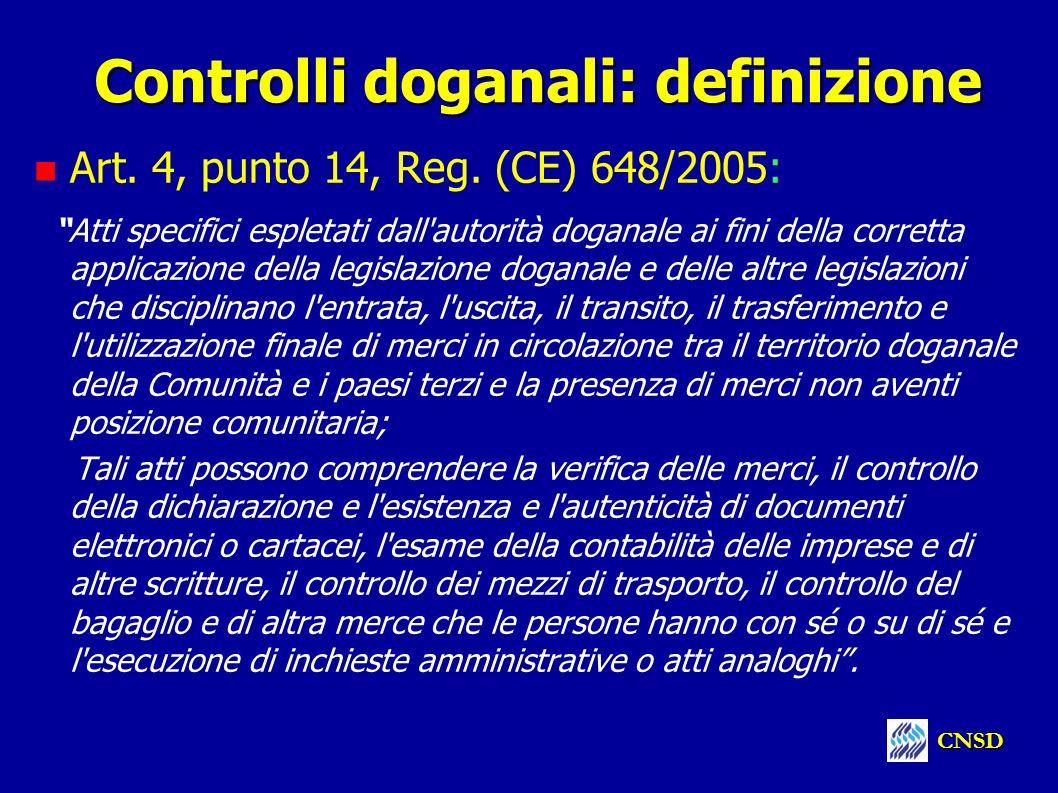 Controlli doganali: definizione