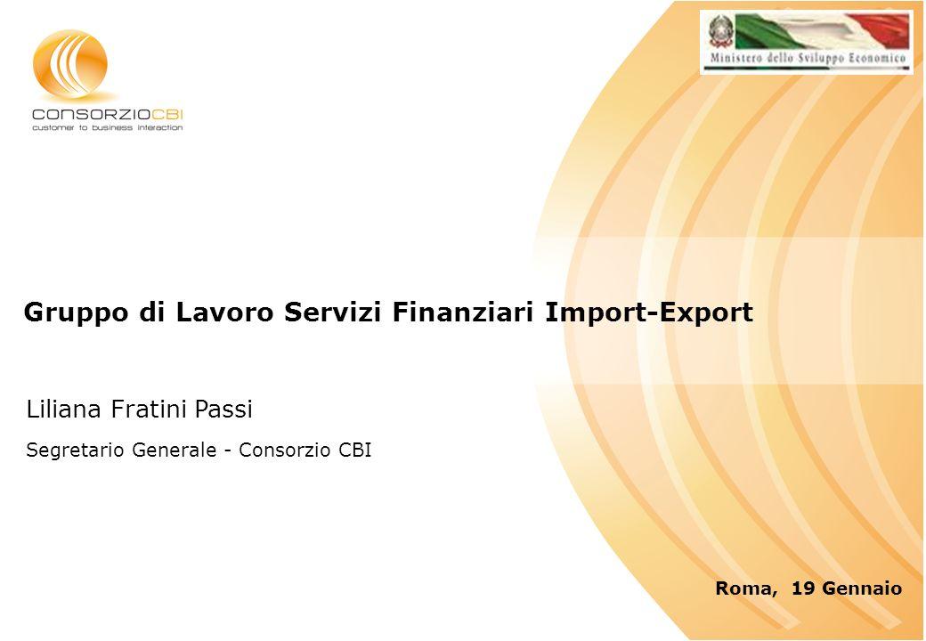 Gruppo di Lavoro Servizi Finanziari Import-Export