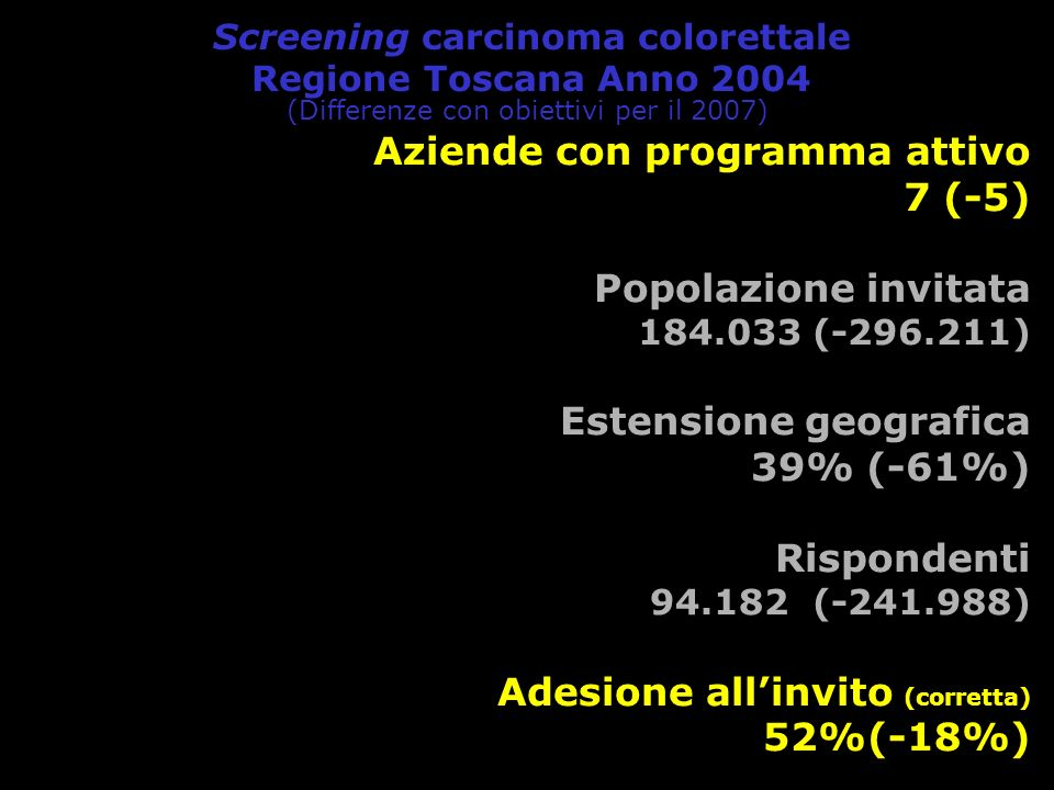 Screening carcinoma colorettale