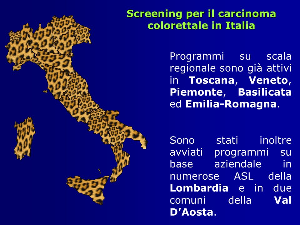 Screening per il carcinoma colorettale in Italia