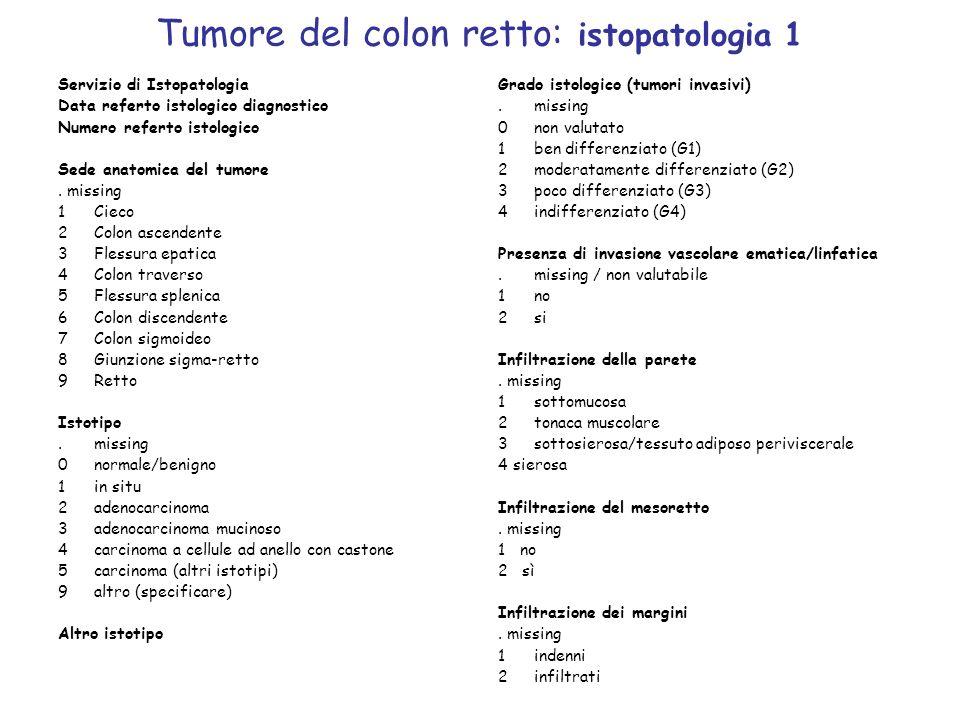 Tumore del colon retto: istopatologia 1