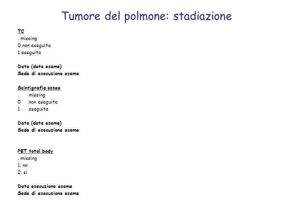 Tumore del polmone: stadiazione