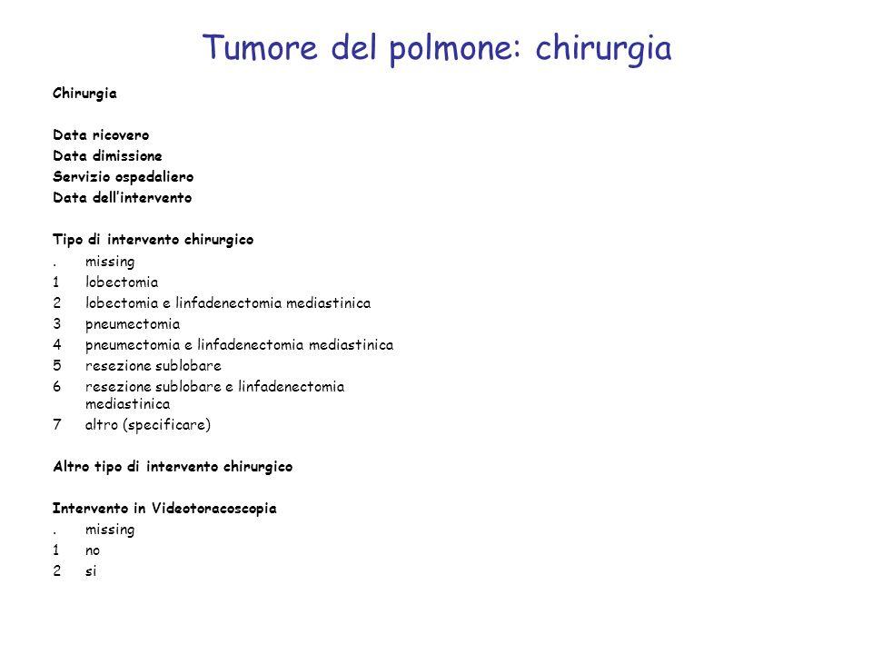 Tumore del polmone: chirurgia