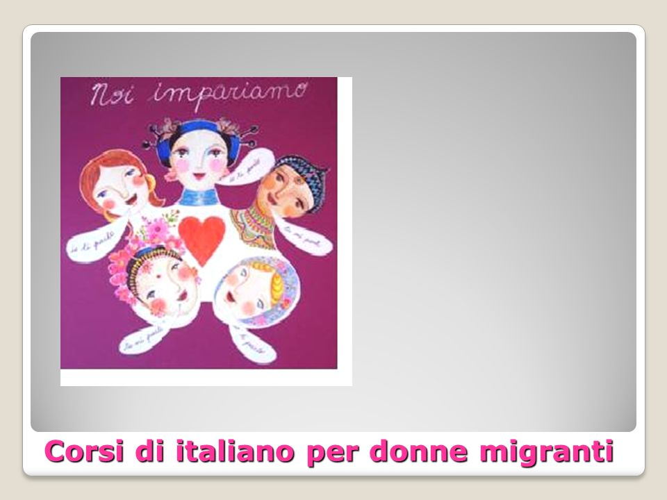 Corsi di italiano per donne migranti