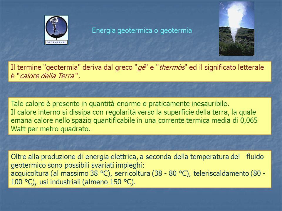Energia geotermica o geotermia
