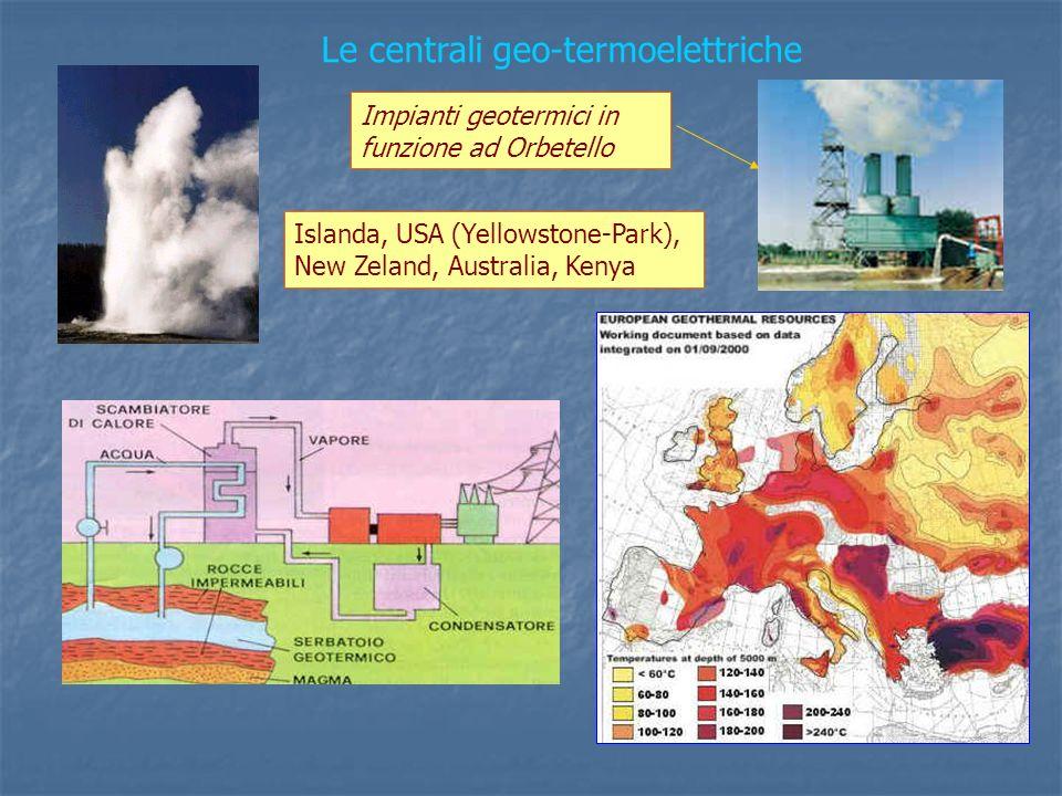 Le centrali geo-termoelettriche