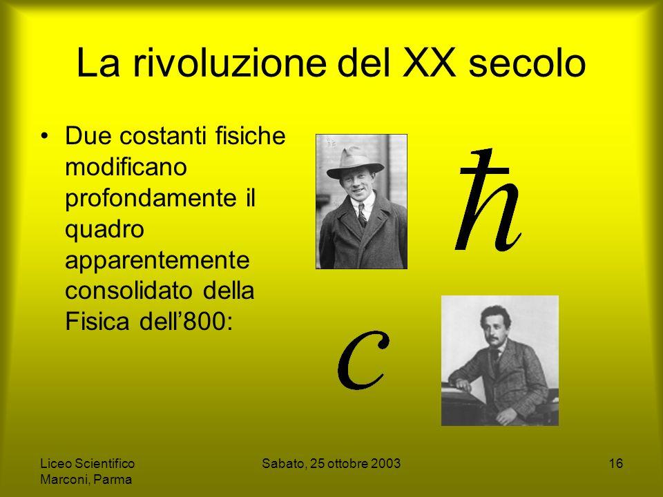 La rivoluzione del XX secolo