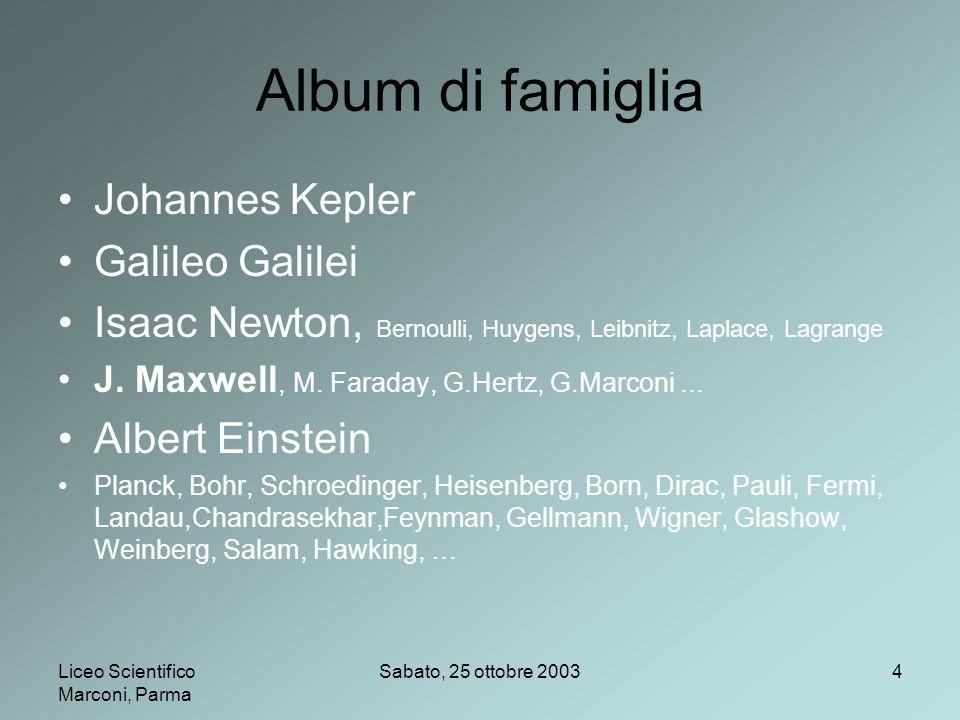 Album di famiglia Johannes Kepler Galileo Galilei