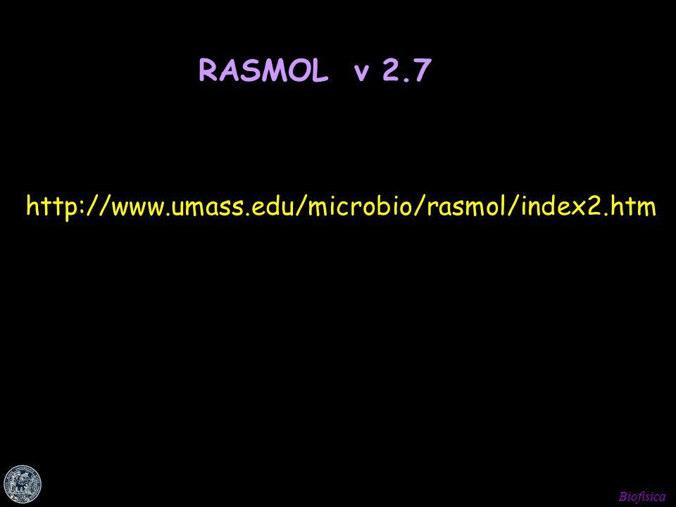 RASMOL v 2.7 http://www.umass.edu/microbio/rasmol/index2.htm