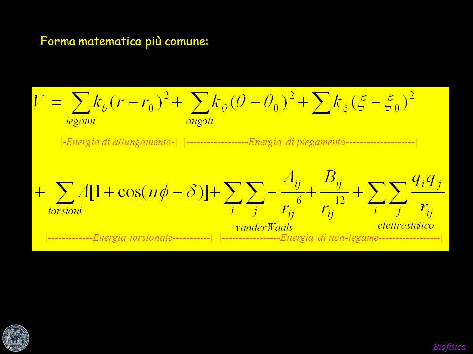 Forma matematica più comune: