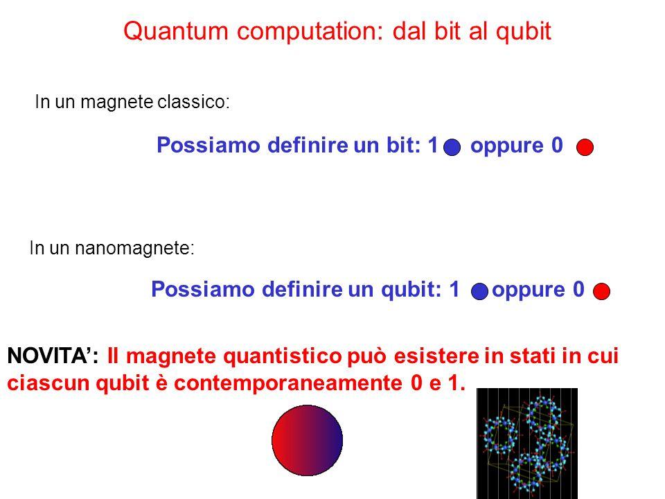 Quantum computation: dal bit al qubit