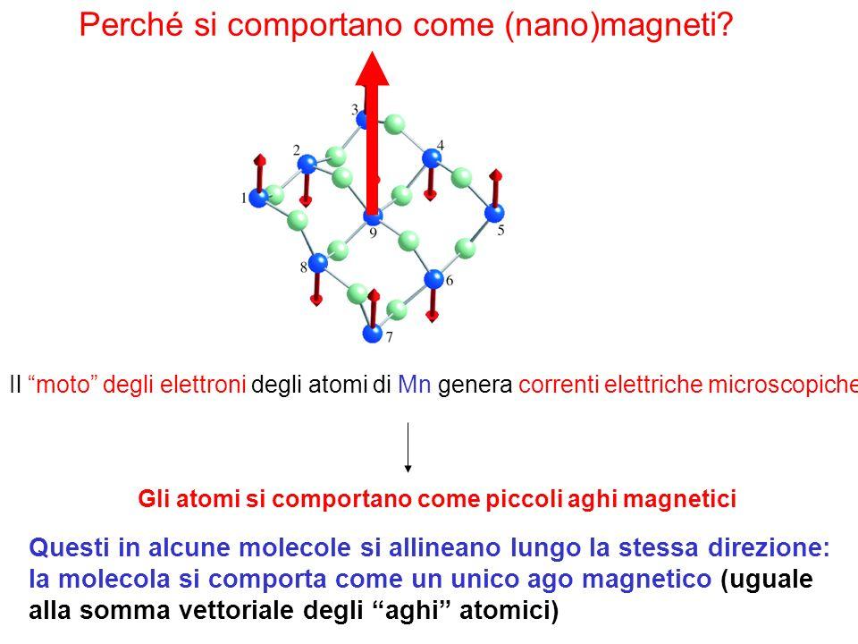 Perché si comportano come (nano)magneti
