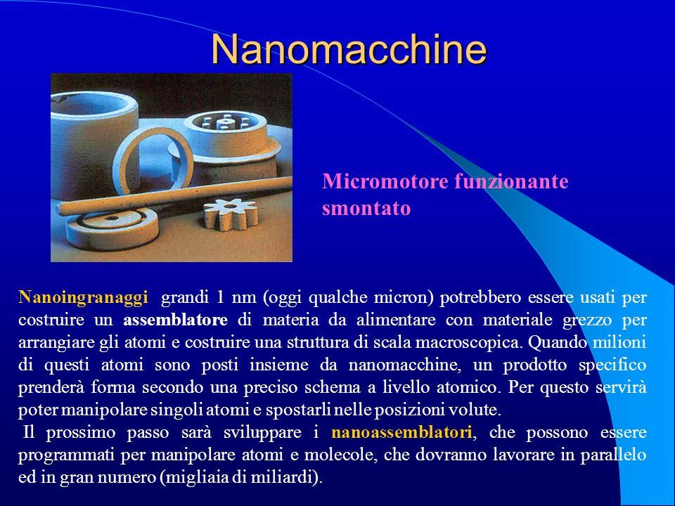 Nanomacchine Micromotore funzionante smontato