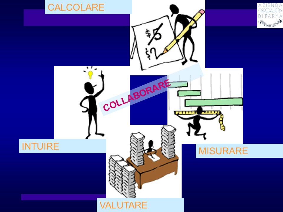 CALCOLARE COLLABORARE INTUIRE MISURARE VALUTARE