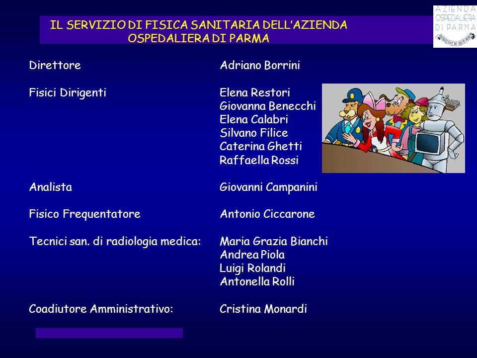 IL SERVIZIO DI FISICA SANITARIA DELL'AZIENDA OSPEDALIERA DI PARMA