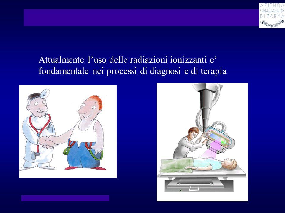 Attualmente l'uso delle radiazioni ionizzanti e' fondamentale nei processi di diagnosi e di terapia