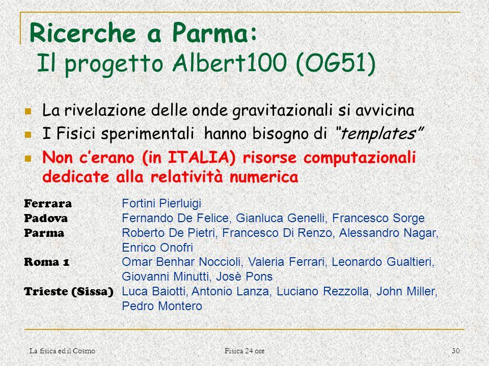 Ricerche a Parma: Il progetto Albert100 (OG51)