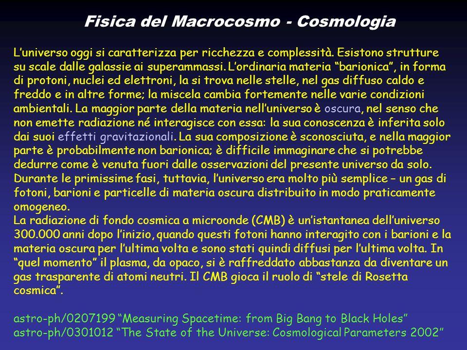 Fisica del Macrocosmo - Cosmologia