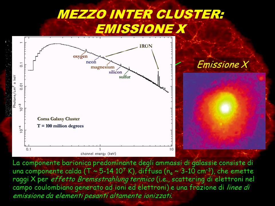 MEZZO INTER CLUSTER: EMISSIONE X