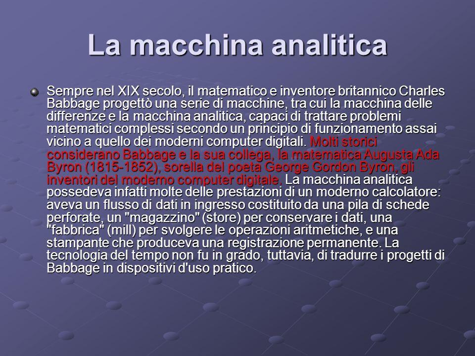 La macchina analitica