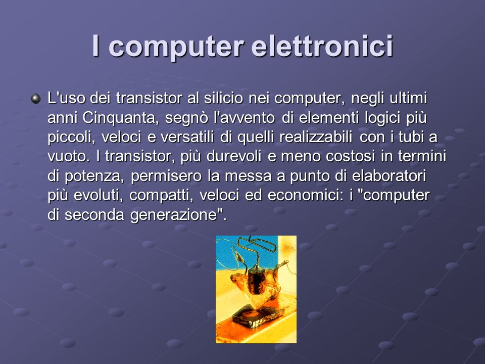 I computer elettronici