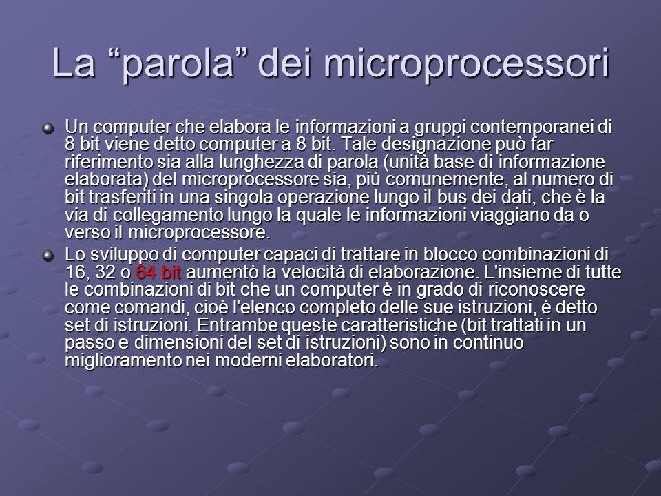La parola dei microprocessori