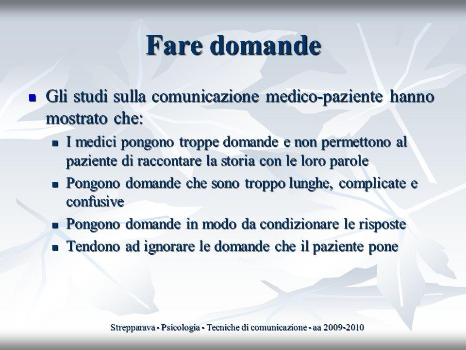 Strepparava - Psicologia - Tecniche di comunicazione - aa 2009-2010