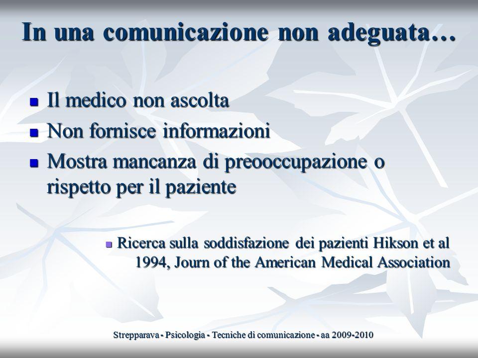 In una comunicazione non adeguata…