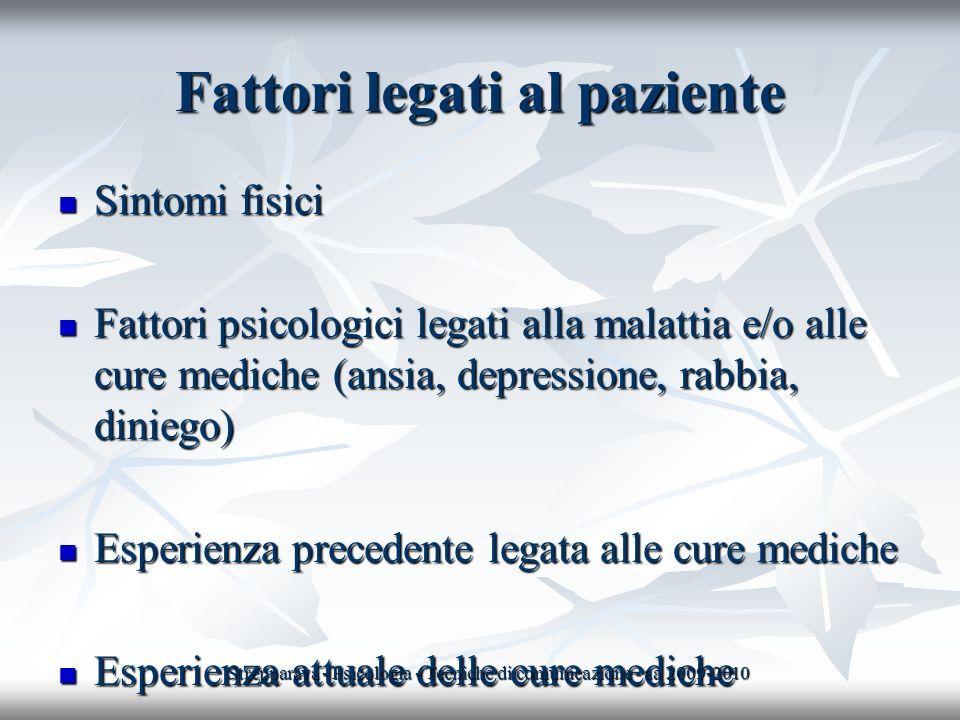 Fattori legati al paziente