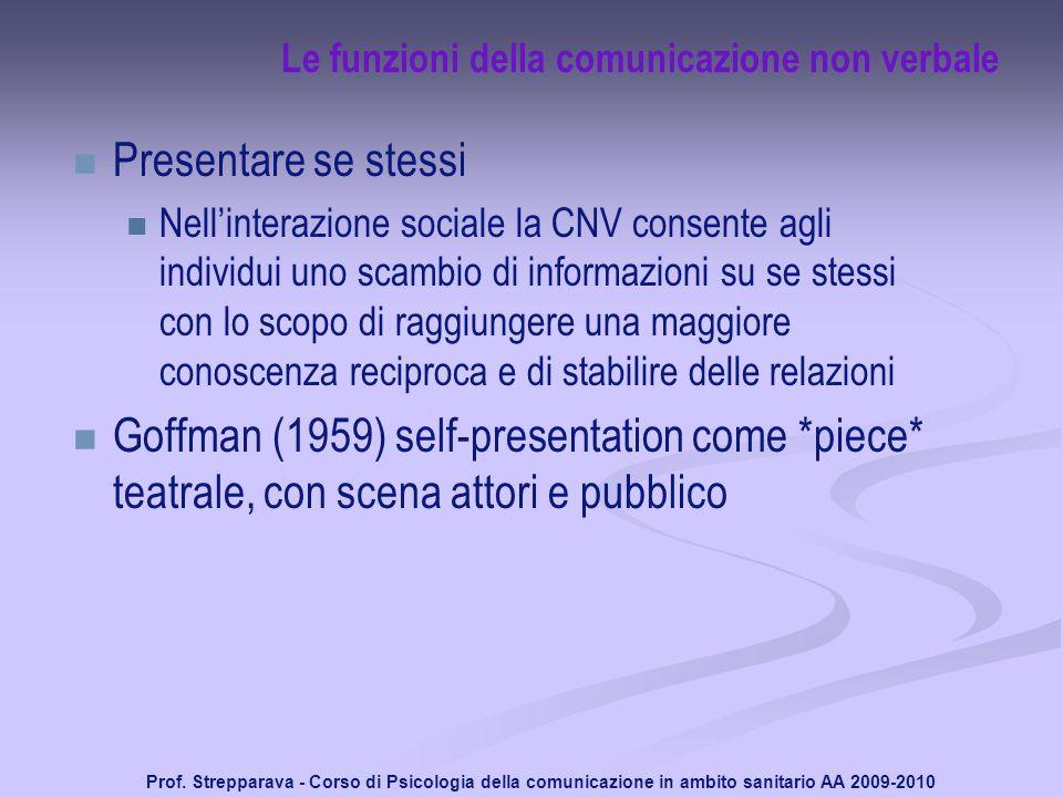 Le funzioni della comunicazione non verbale