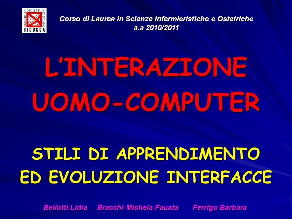 STILI DI APPRENDIMENTO ED EVOLUZIONE INTERFACCE