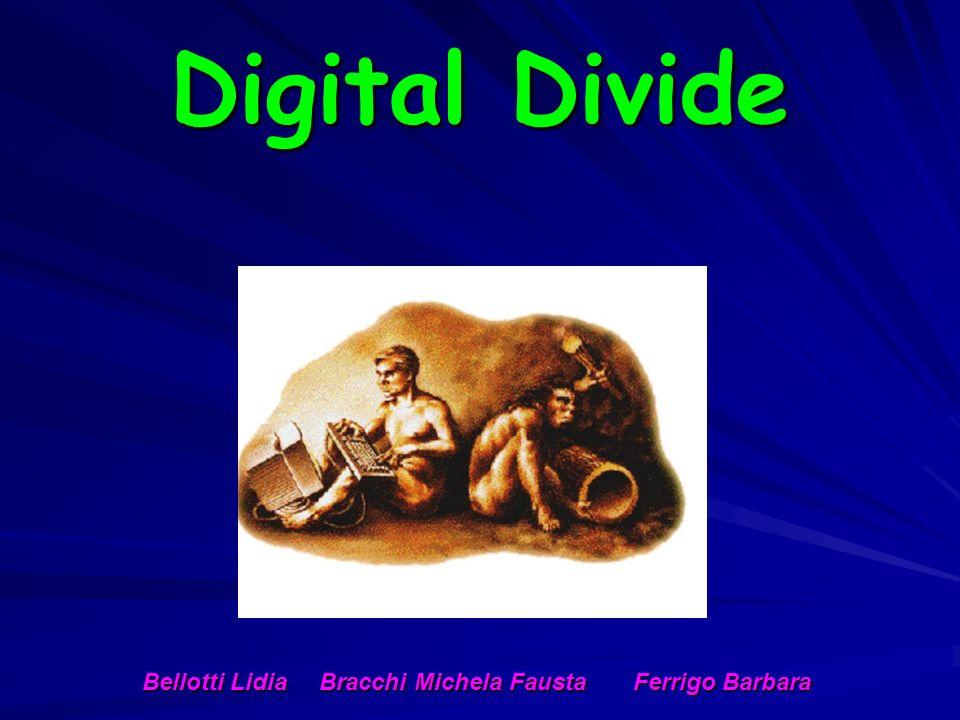 Digital Divide Bellotti Lidia Bracchi Michela Fausta Ferrigo Barbara