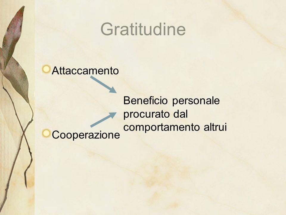 Gratitudine Attaccamento