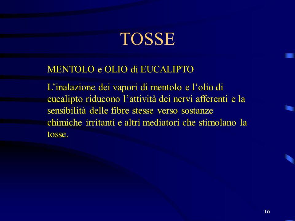 TOSSE MENTOLO e OLIO di EUCALIPTO