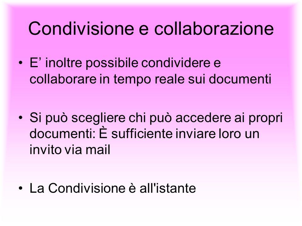 Condivisione e collaborazione