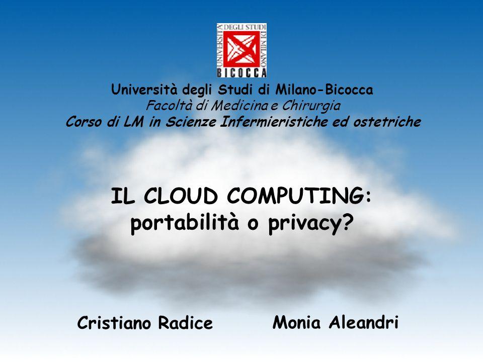 IL CLOUD COMPUTING: portabilità o privacy