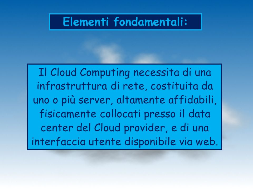 Elementi fondamentali: