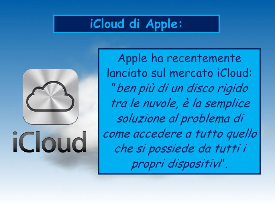 iCloud di Apple: