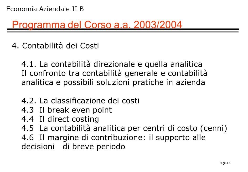 Programma del Corso a.a. 2003/2004